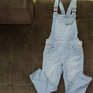 Gap light blue jean overalls